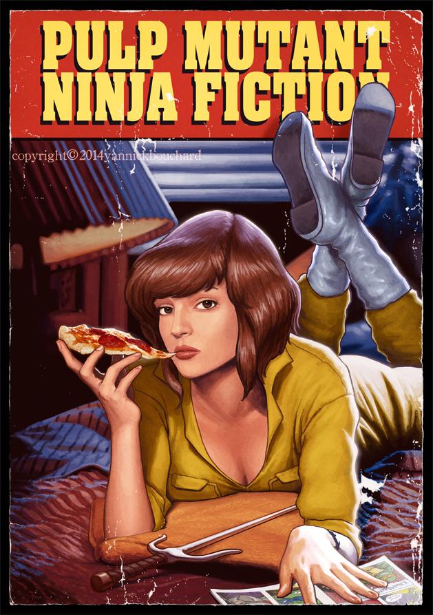 Pulp Mutant Ninja Fiction - Illustration by Yannick Bouchard