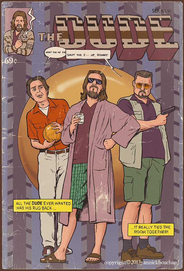 The Dude - Illustration by Yannick Bouchard