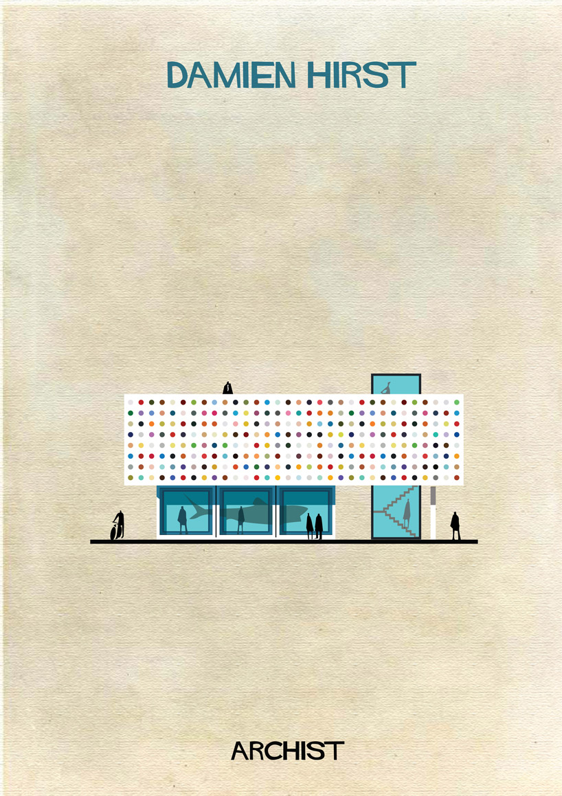 Damien Hirst - Archist - Illustration by Federico Babina