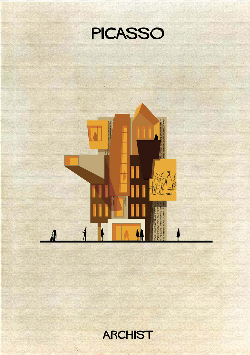 Pablo Picasso - Archist - Illustration by Federico Babina