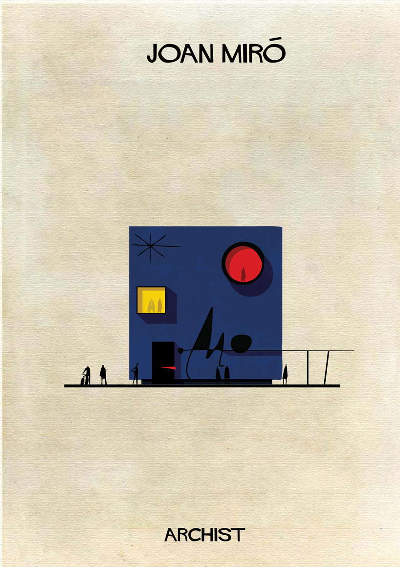 Joan Miró - Archist - Illustration by Federico Babina