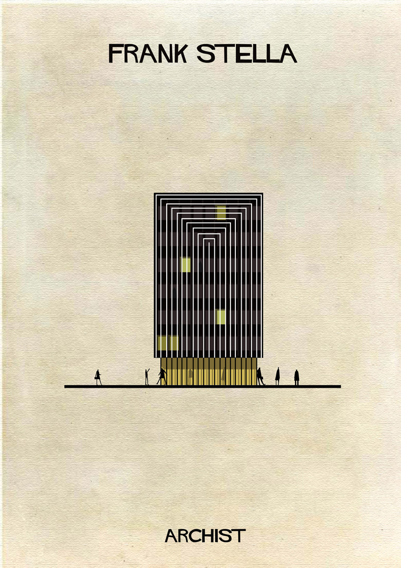 Frank Stella - Archist - Illustration by Federico Babina