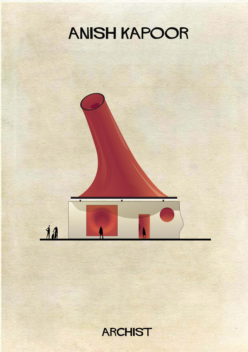 Anish Kapoor - Archist - Illustration by Federico Babina