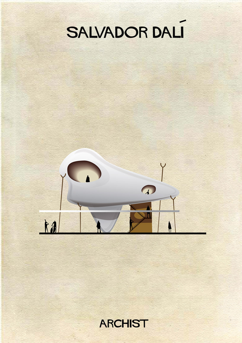 Salvador Dalí - Archist - Illustration by Federico Babina