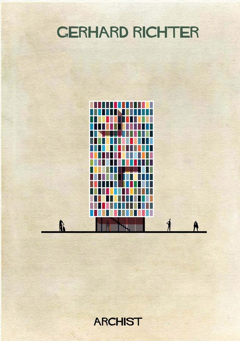 Gerhard Richter - Archist - Illustration by Federico Babina