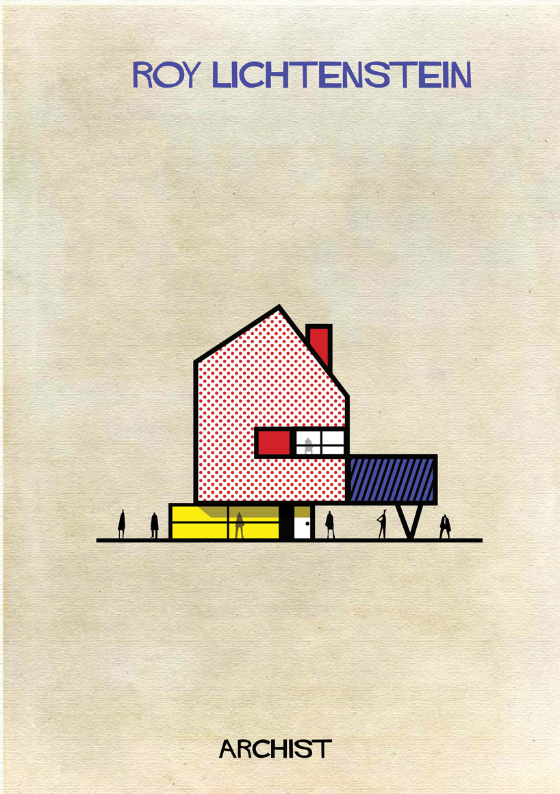 Roy Lichtenstein - Archist - Illustration by Federico Babina