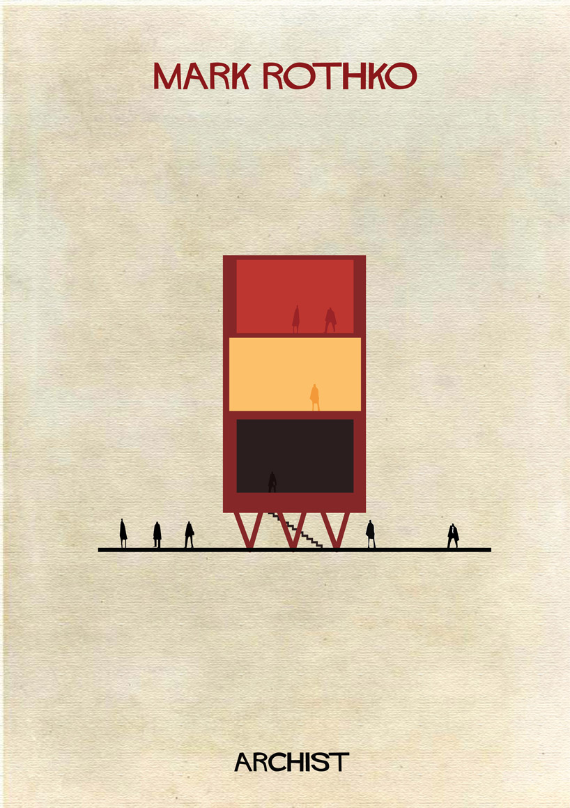 Mark Rothko - Archist - Illustration by Federico Babina
