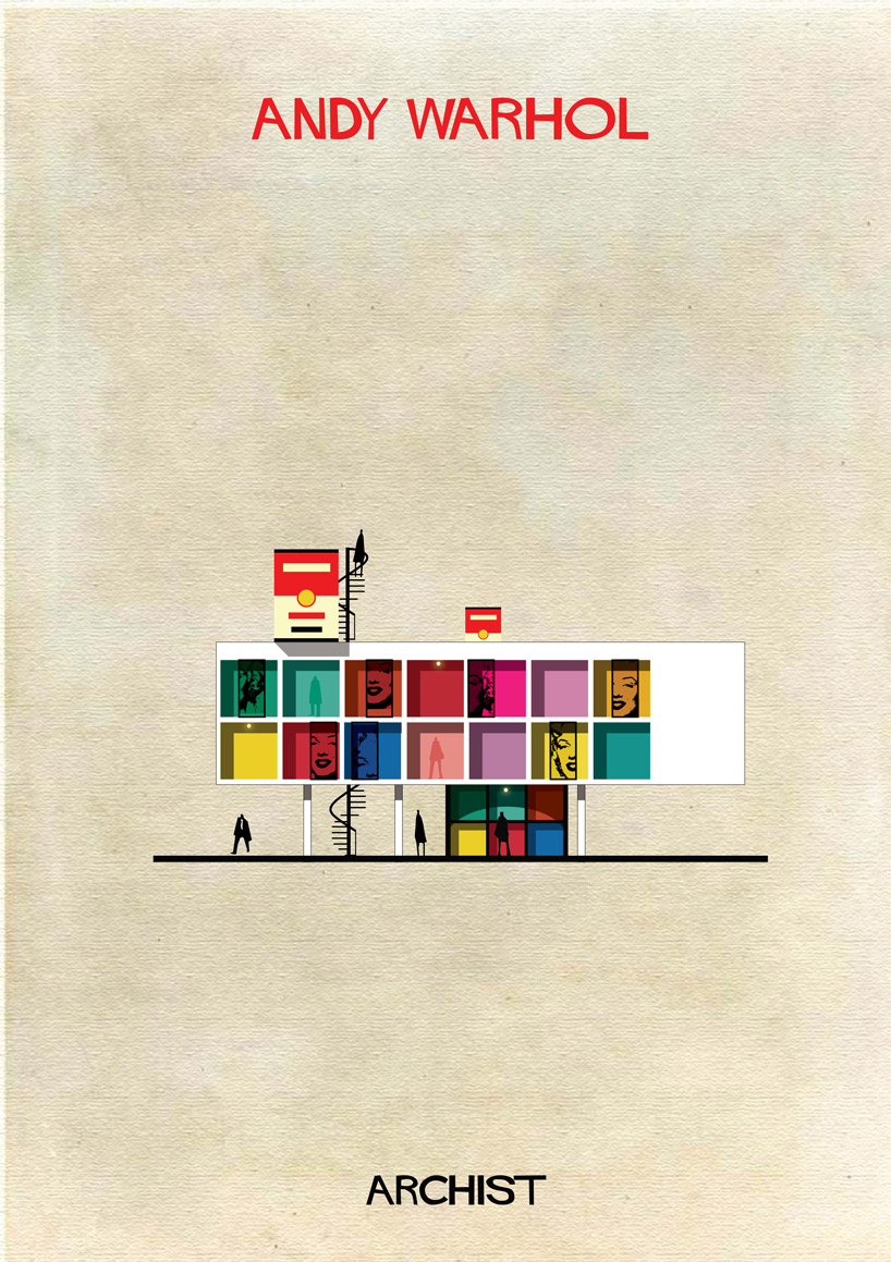 Andy Warhol - Archist - Illustration by Federico Babina