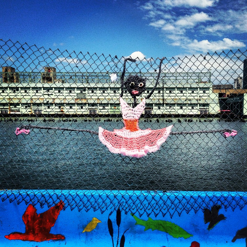 Dancer - Crochet Yarn Bombing - Street Art by London Kaye