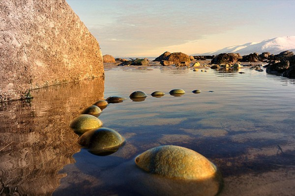Ebbstones - Land Art by Gerry Barry
