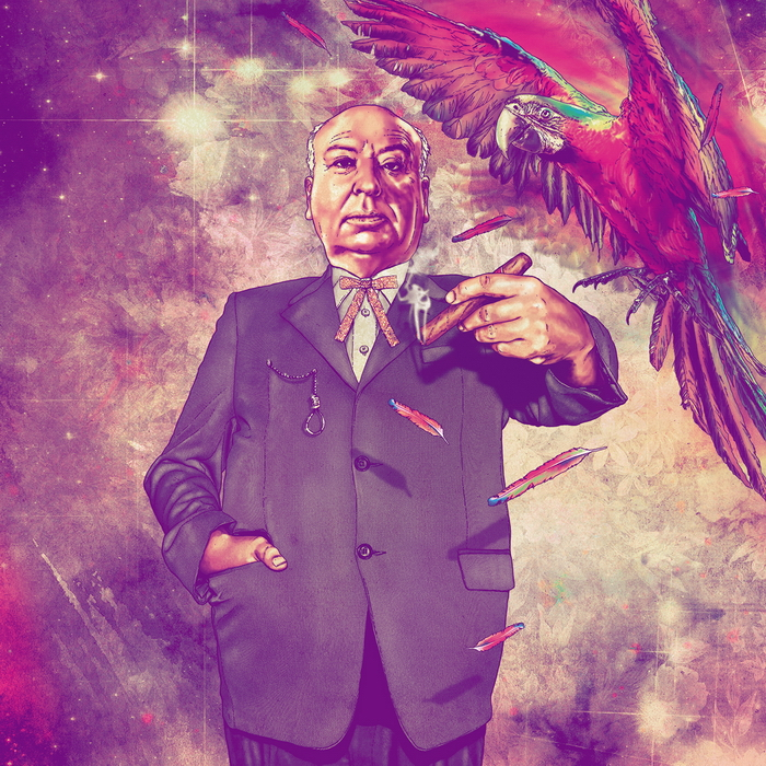 Alfred Hitchcock - Illustration by Fab Ciraolo