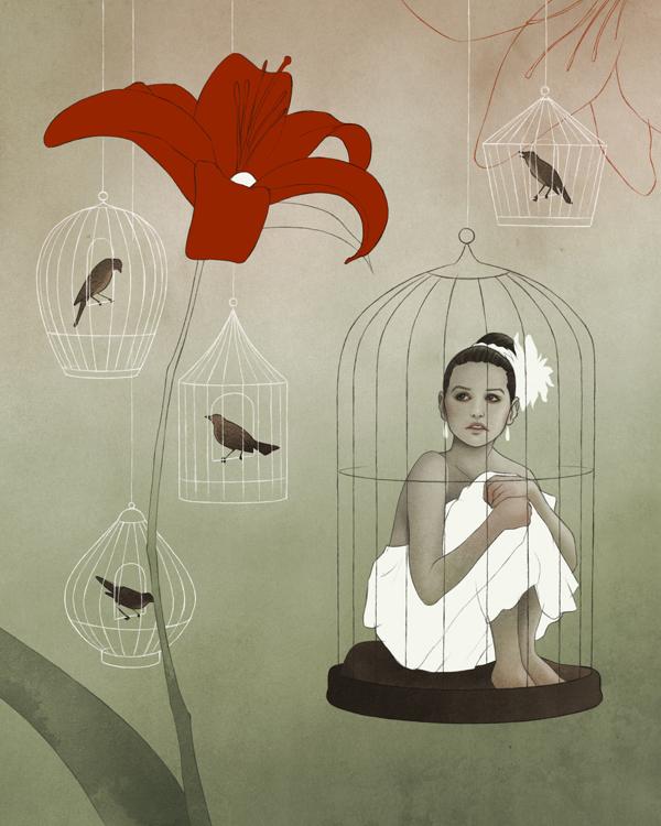 Jorinda (Jorinde) - Modern Grimm - Illustration by Björn Griesbach
