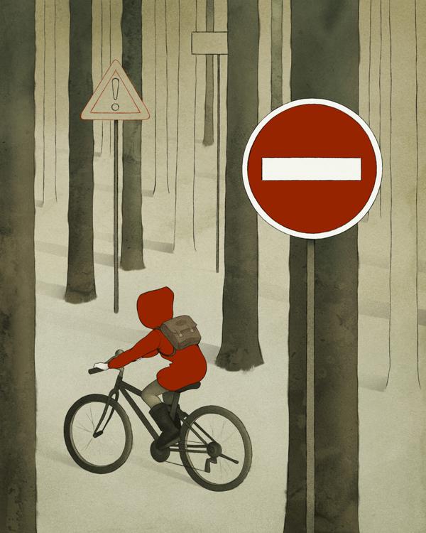Red Riding Hood (Rotkäppchen) - Modern Grimm - Illustration by Björn Griesbach