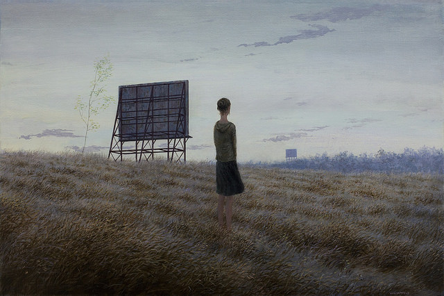 Transmission - Oil Painting by Aron Wiesenfeld