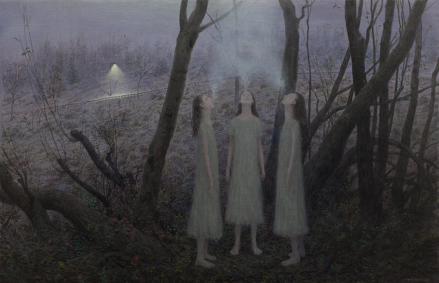 Fog - Oil Painting by Aron Wiesenfeld