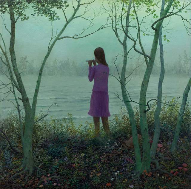 Bloom - Oil Painting by Aron Wiesenfeld