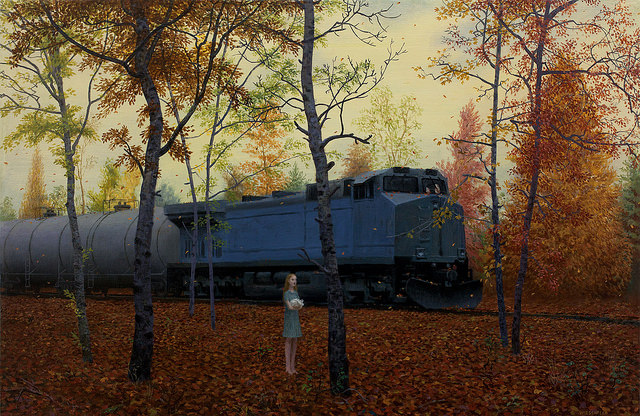 October - Oil Painting by Aron Wiesenfeld