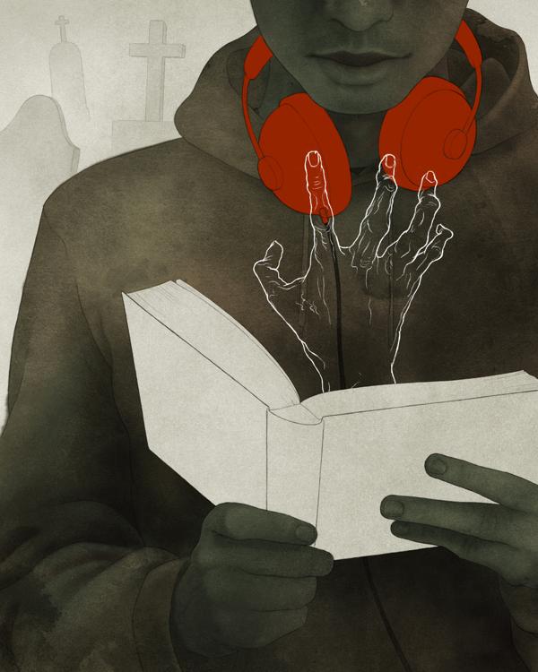 The youth who went forth to learn what fear was (Einer, der auszog das Fürchten zu lernen) - Modern Grimm - Illustration by Björn Griesbach