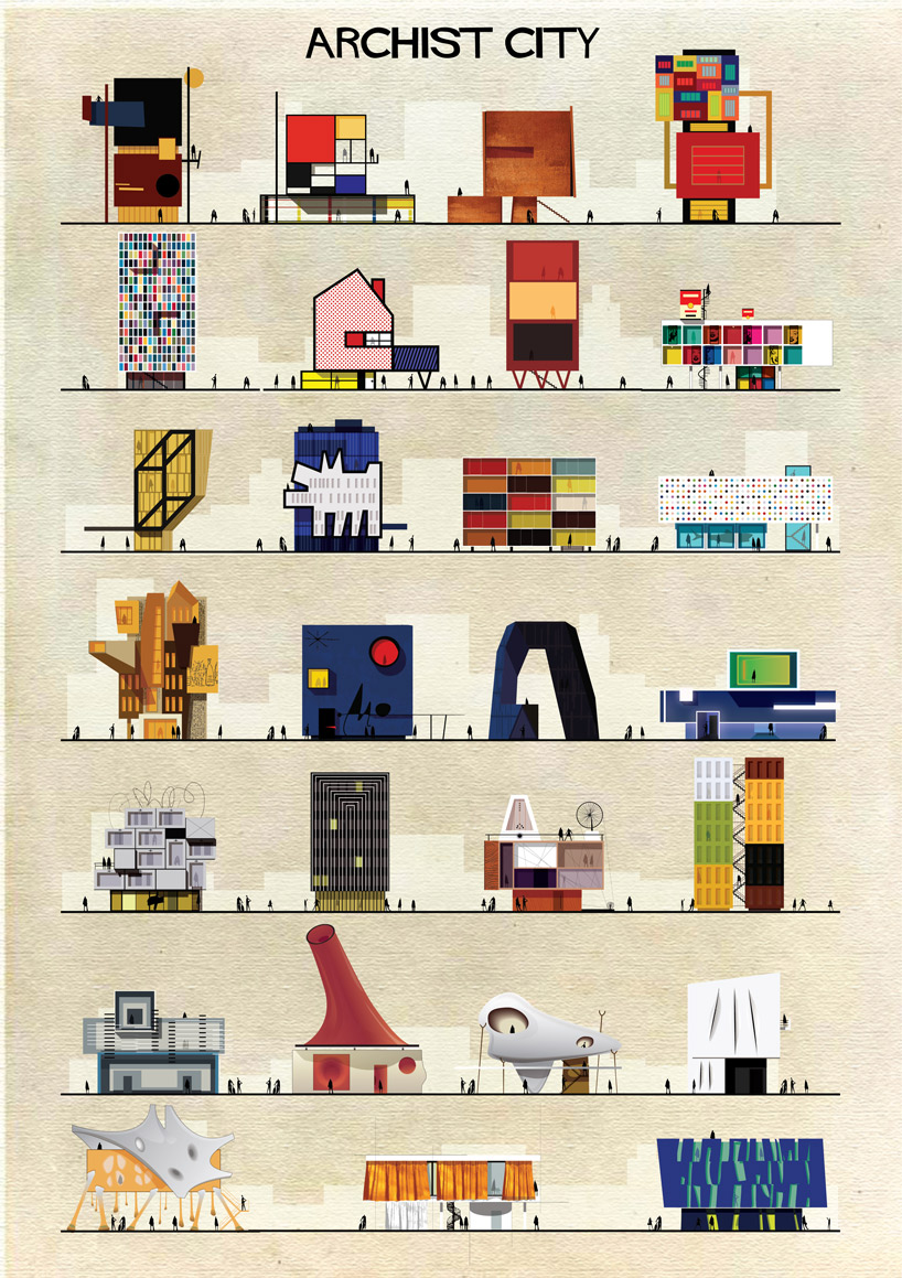 Archist City - Archist - Illustration by Federico Babina