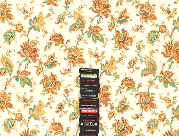 Atari & Flower Wallpaper