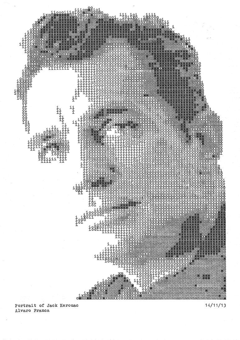Jack Kerouac - Typewritten Portraits by Álvaro Franca