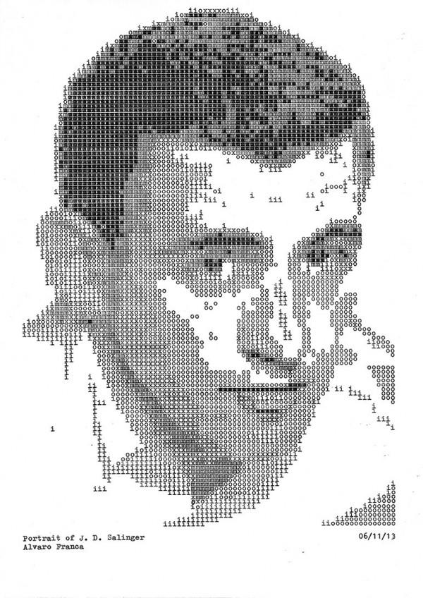 J.D. Salinger - Typewritten Portraits by Álvaro Franca