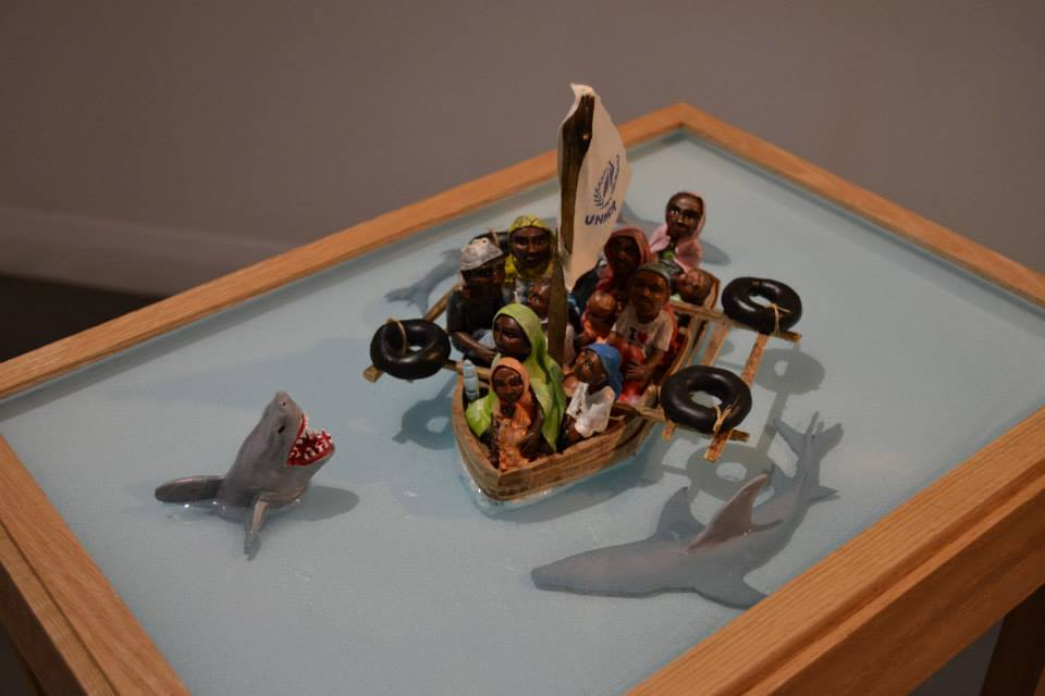 Homeland Security - HYPERland - Sculpture Installation by Karine Giboulo