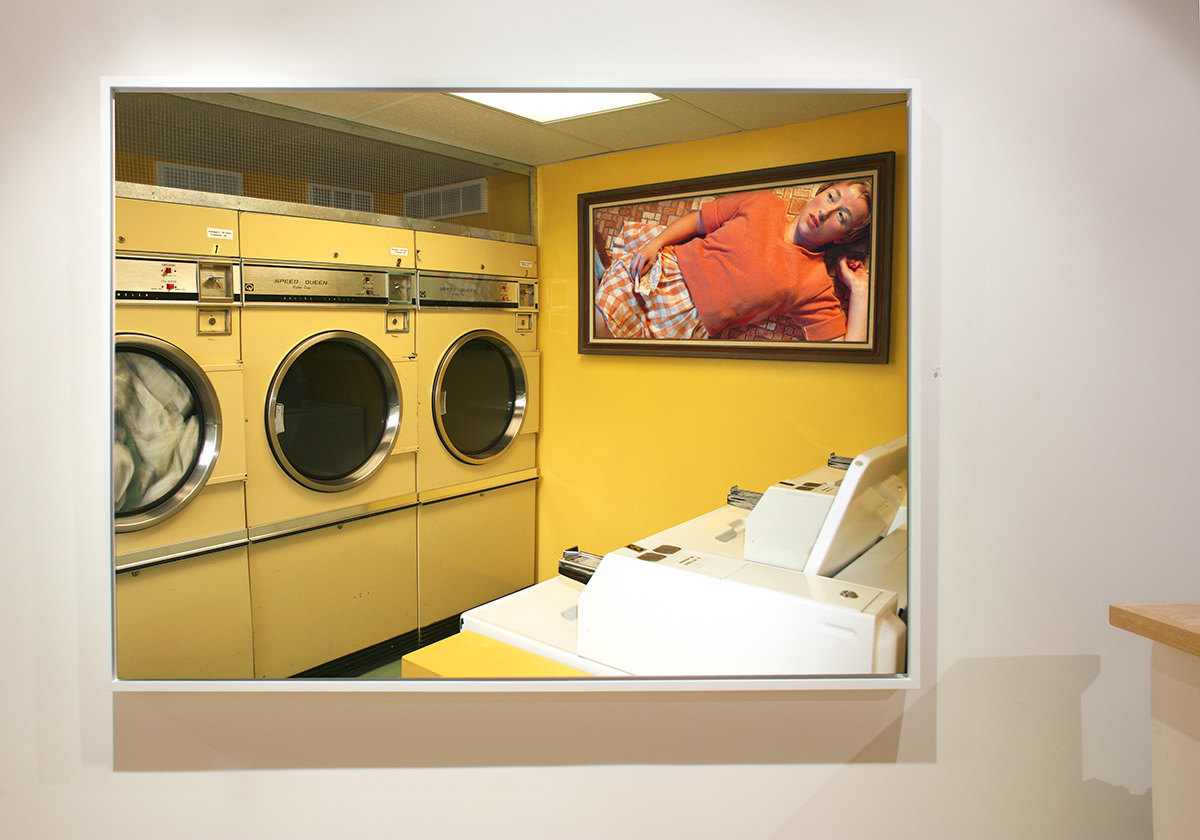 Cindy Sherman, in a Laundromat - Great Art in Ugly Rooms - GAiUR
