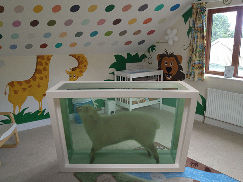 Damien Hirst, in a Child's Room - Great Art in Ugly Rooms - GAiUR