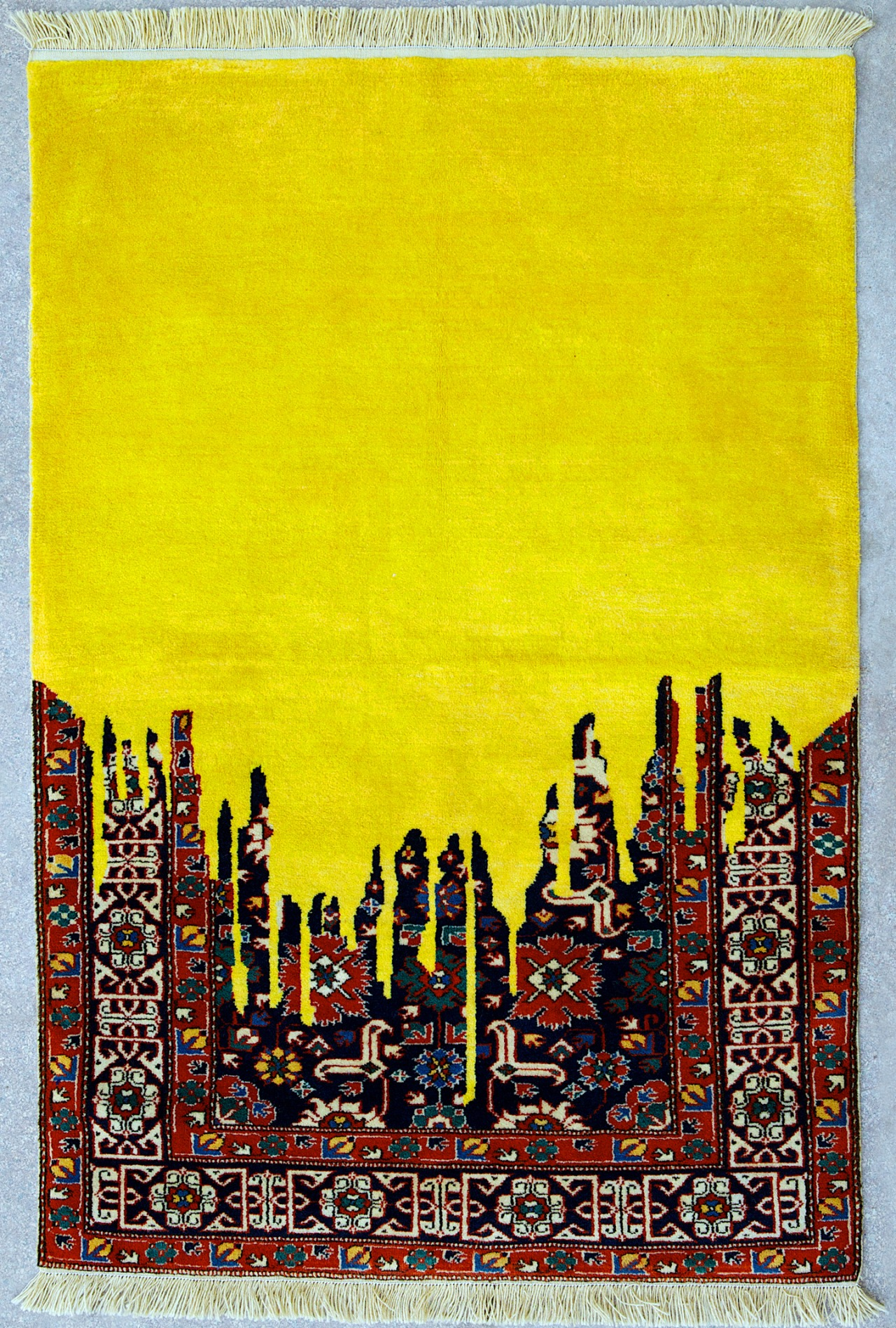 Flood of Yellow Weight - Handmade Woolen Carpet by Faig Ahmed