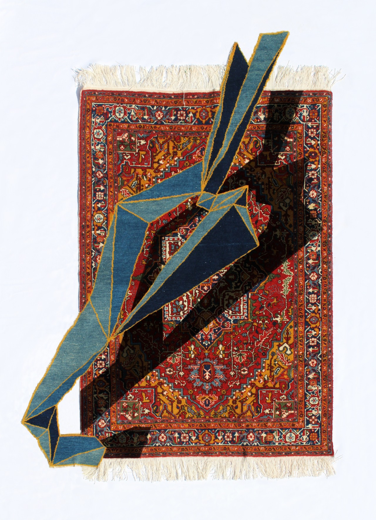 Ilan (Snake) Geometric Series - Handmade Woolen Carpet by Faig Ahmed
