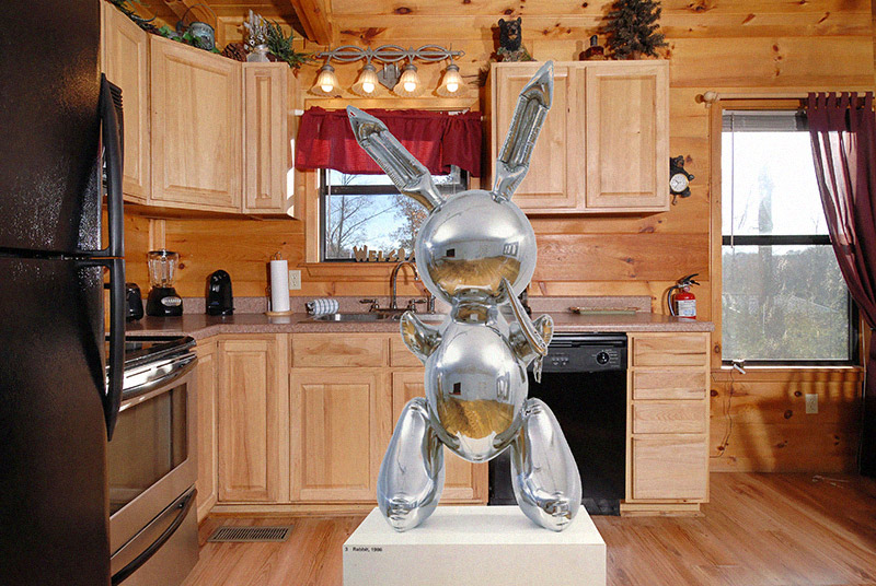 Jeff Koons, in a Kitchen - Great Art in Ugly Rooms - GAiUR
