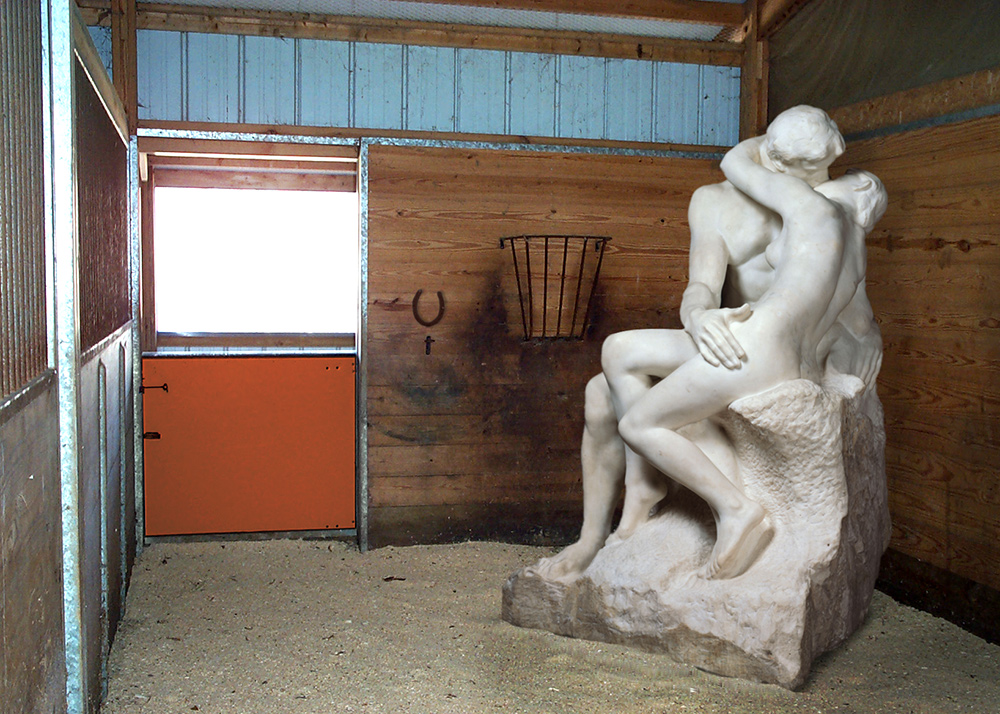 Auguste Rodin, in a Stable - Great Art in Ugly Rooms - GAiUR