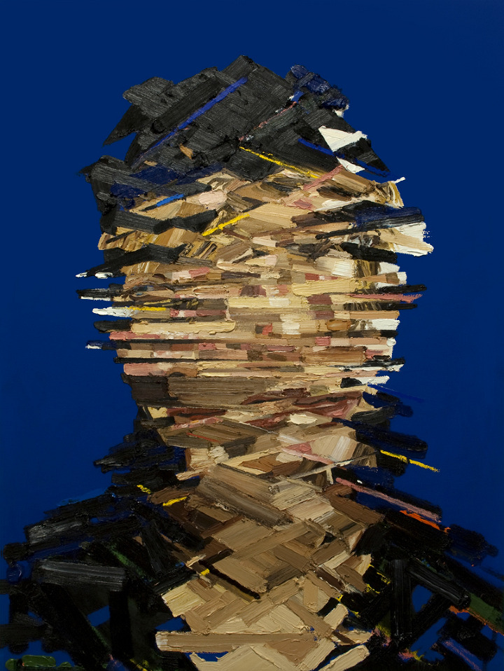 Self Portrait 1 - Architecture of the Face - Oil Painting by Erik Olson