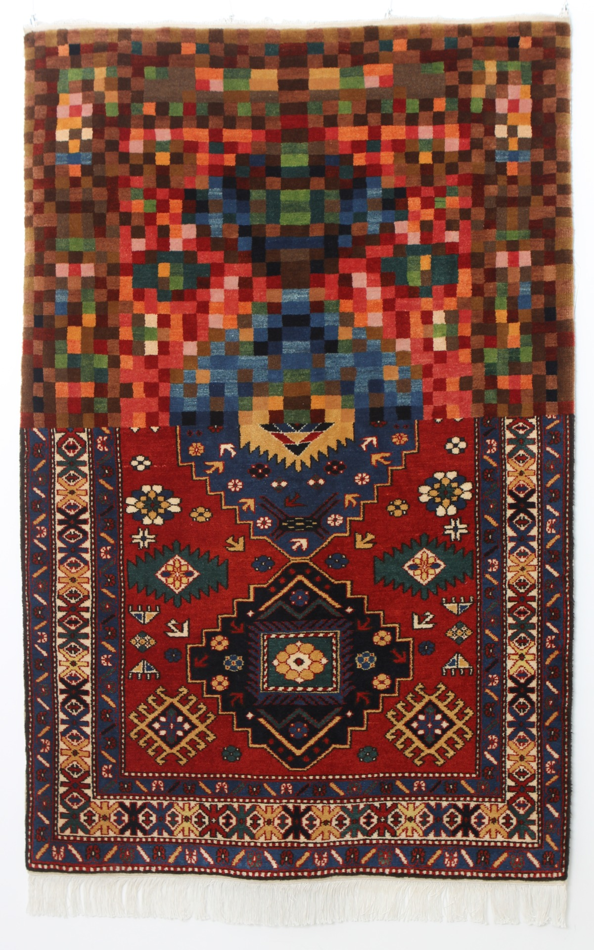 Tradition in Pixel - Handmade Woolen Carpet by Faig Ahmed