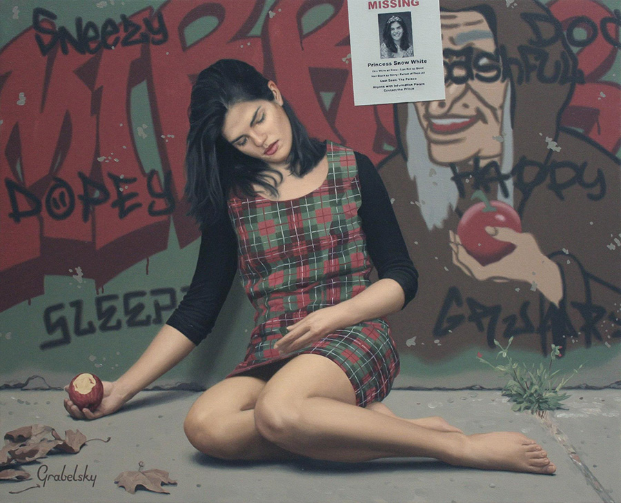 Snow White - Anomaly - Oil Painting by Matthew Grabelsky
