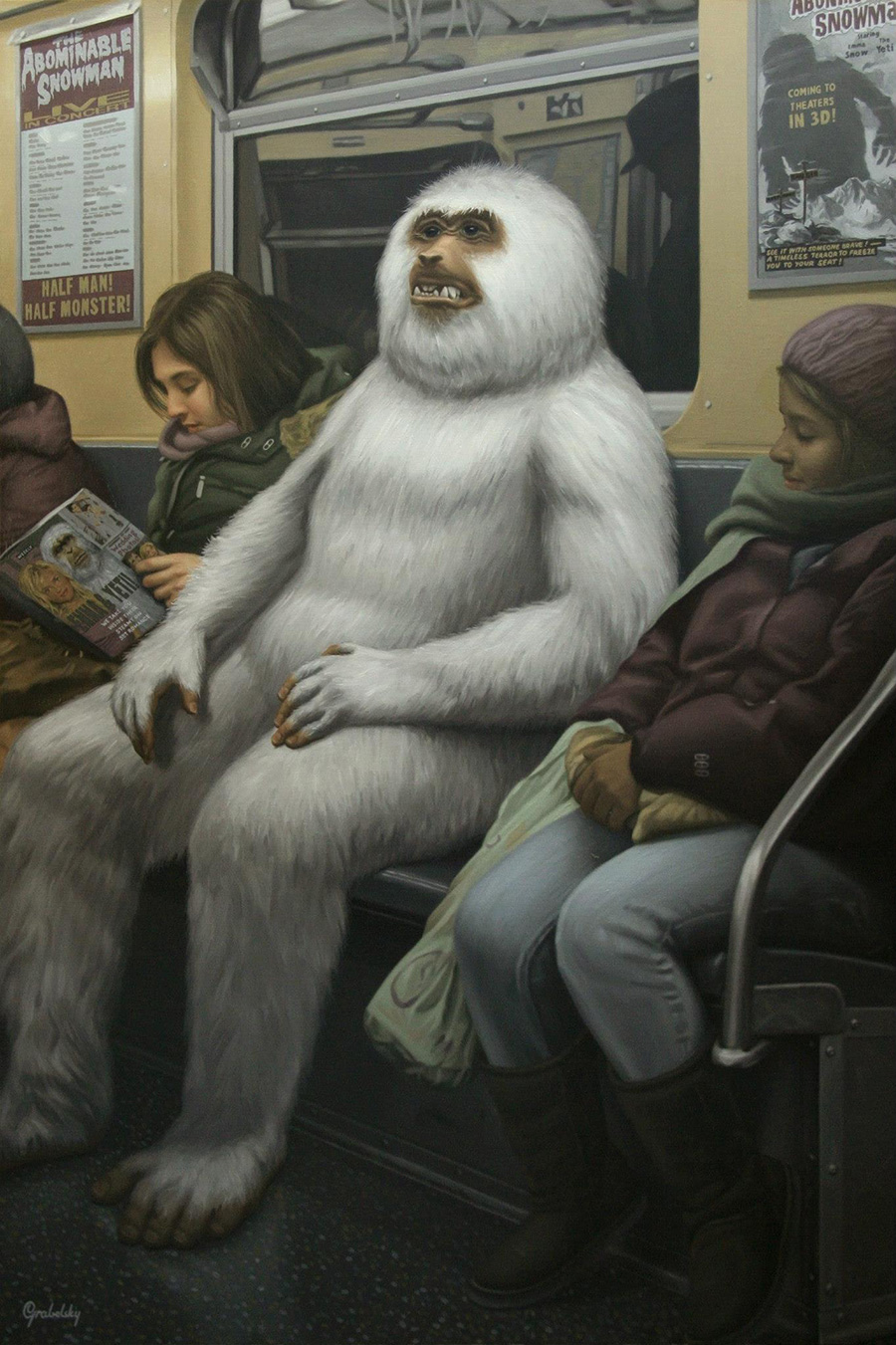 The Abominable Snowman - Anomaly - Oil Painting by Matthew Grabelsky