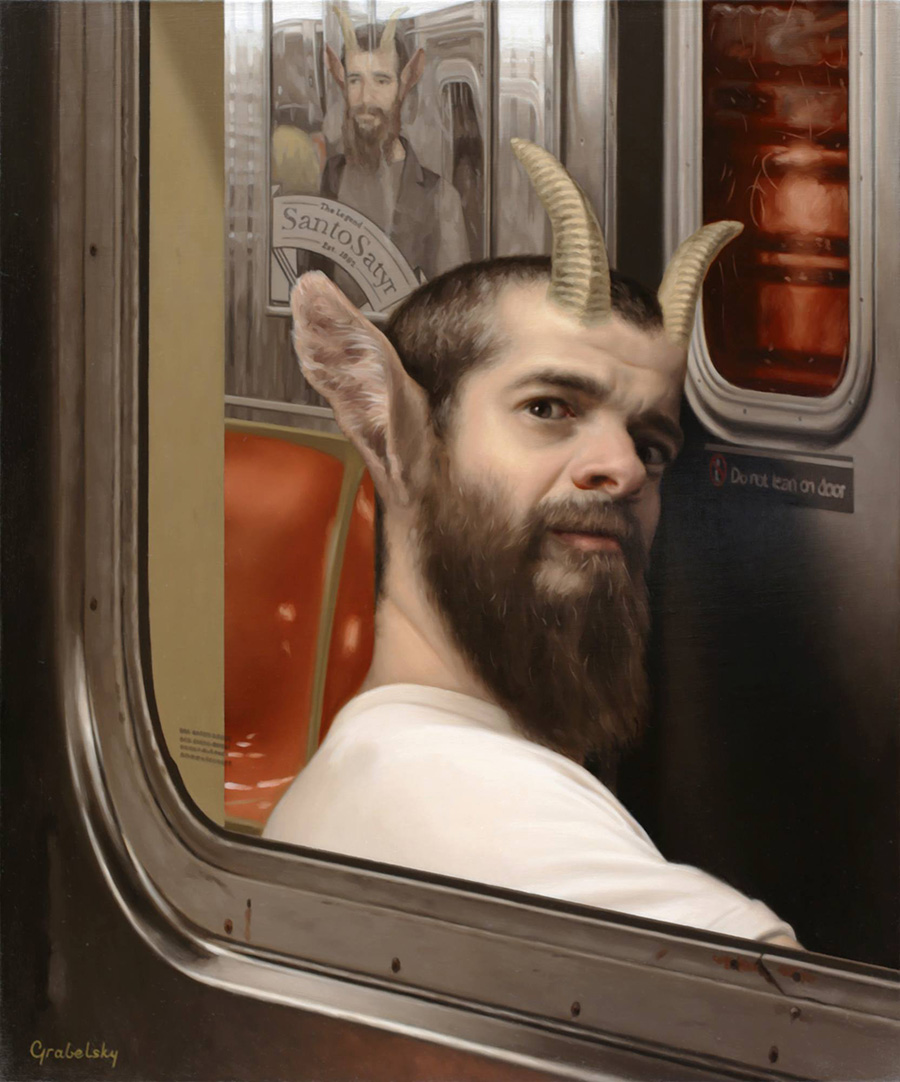 Satyr's Glance - Anomaly - Oil Painting by Matthew Grabelsky