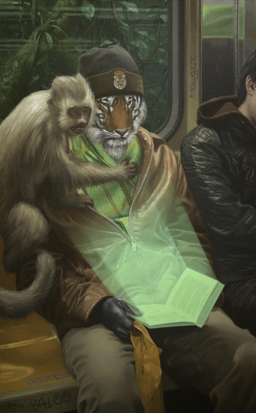 Shere Kahn & The Jungle Book - Anomaly - Oil Painting by Matthew Grabelsky