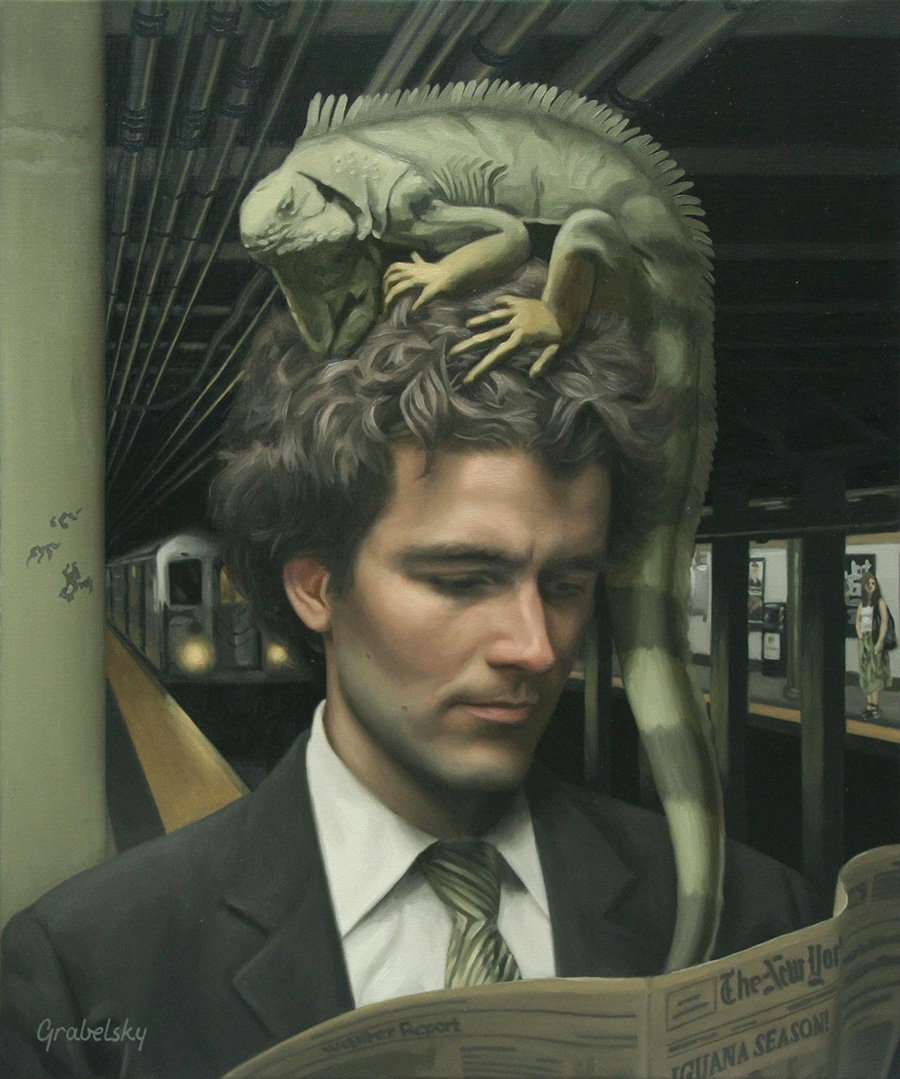 Iguana Season - Anomaly - Oil Painting by Matthew Grabelsky