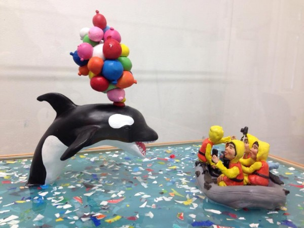 Killer Whale - HYPERland - Sculpture Installation by Karine Giboulo