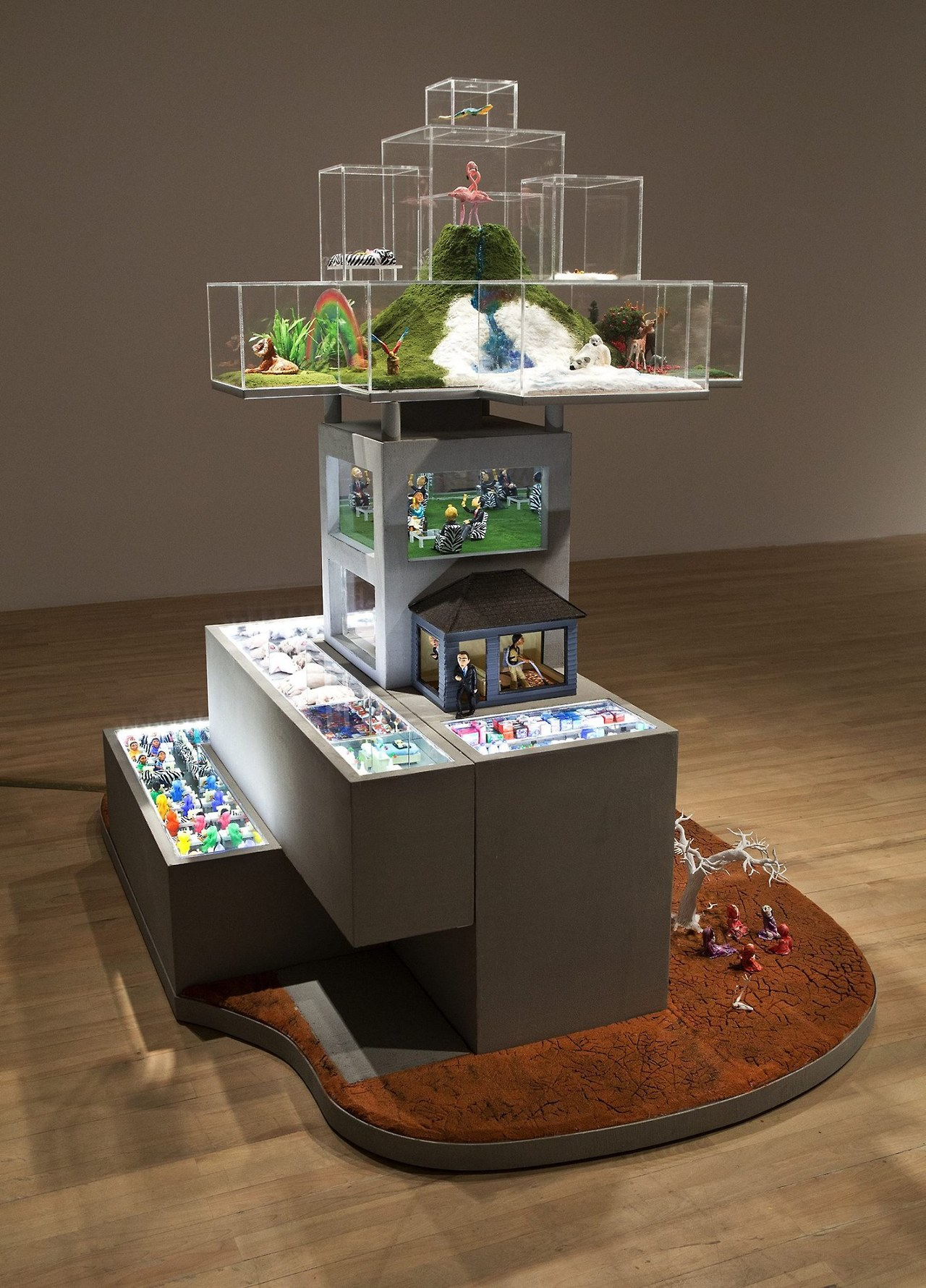 HYPERland 0-1 - HYPERland - Sculpture Installation by Karine Giboulo
