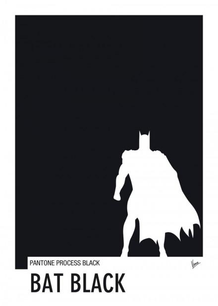 My Superhero 02 BATMAN Minimal Pantone poster by Chungkong
