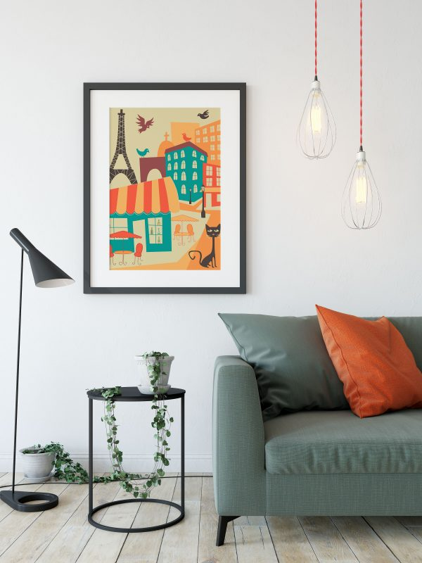map travel art print